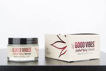 Good Vibes Instant Relief Balm box